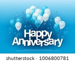 happy anniversary greeting card ... | Shutterstock .eps vector #1006800781