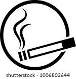 cigarette icon  cigarette... | Shutterstock .eps vector #1006802644