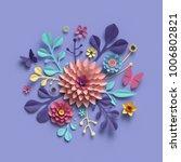 3d rendering  abstract round... | Shutterstock . vector #1006802821