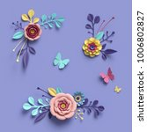3d rendering  abstract... | Shutterstock . vector #1006802827