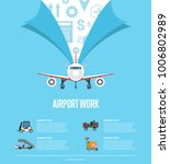 airport work poster for... | Shutterstock .eps vector #1006802989