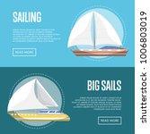big sails flyers with passenger ... | Shutterstock .eps vector #1006803019