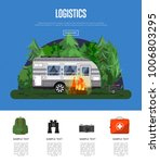 travel logistics poster with... | Shutterstock .eps vector #1006803295