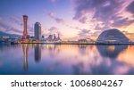 skyline and port of kobe in... | Shutterstock . vector #1006804267