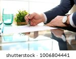 businessman is signing a...   Shutterstock . vector #1006804441