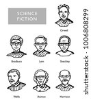 famous science fiction writers  ... | Shutterstock .eps vector #1006808299