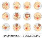 pain vector set  woman body... | Shutterstock .eps vector #1006808347