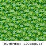 marijuana leaves seamless... | Shutterstock .eps vector #1006808785