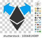 ethereum spend arrows icon with ...