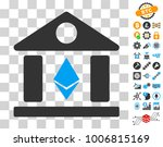 ethereum bank building icon...