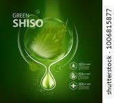 perilla leaf natural cosmetics  ... | Shutterstock .eps vector #1006815877