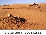 berber tent in the sahara desert | Shutterstock . vector #100681831