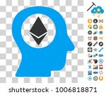 ethereum mind pictograph with...