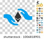 ethereum care hands pictograph...