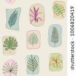 tropical botanical leaves.... | Shutterstock .eps vector #1006820419