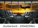 empty airport terminal waiting... | Shutterstock . vector #1006825861