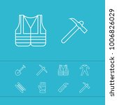 industry tool icons set with...