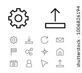 network icons set with flag ...