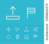 internet icons set with cursor  ...
