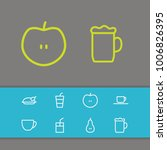 nutrition icons set with tea...