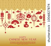 chinese new year greeting card... | Shutterstock .eps vector #1006827874