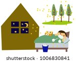 image of stuffy nose and hay... | Shutterstock .eps vector #1006830841