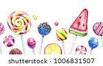 hand drawn watercolor... | Shutterstock . vector #1006831507