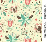 seamless pattern can be used... | Shutterstock .eps vector #100683241