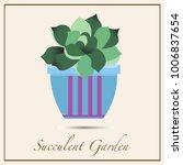 succulent plants in the... | Shutterstock .eps vector #1006837654