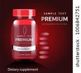 dietary supplements ...   Shutterstock .eps vector #1006842751