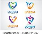 love people  logo set template... | Shutterstock .eps vector #1006844257