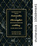 wedding invitation card with... | Shutterstock .eps vector #1006844641