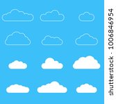 clouds icon set. different... | Shutterstock .eps vector #1006846954