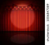 spotlight on stage and red... | Shutterstock .eps vector #1006847089