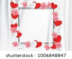 Black Frame With Flowers And...