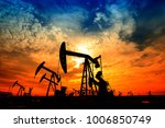 the oil pump  industrial... | Shutterstock . vector #1006850749