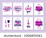 valentines day greeting card... | Shutterstock .eps vector #1006854361