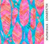 feathers boho pattern ethnic... | Shutterstock . vector #1006854754