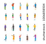 people characters icon set... | Shutterstock .eps vector #1006858504