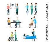 cartoon doctors and patients... | Shutterstock .eps vector #1006859335