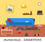 cartoon dirty organized... | Shutterstock .eps vector #1006859344