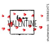 valentines day card with red... | Shutterstock .eps vector #1006861471