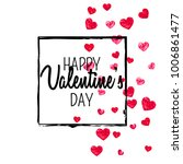 valentines day card with red... | Shutterstock .eps vector #1006861477