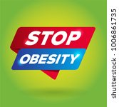 stop obesity arrow tag sign. | Shutterstock .eps vector #1006861735