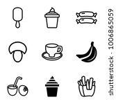 tasty icons. set of 9 editable... | Shutterstock .eps vector #1006865059