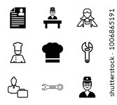 profession icons. set of 9... | Shutterstock .eps vector #1006865191