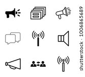 communicate icons set of 9