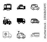 van icons. set of 9 editable... | Shutterstock .eps vector #1006865695