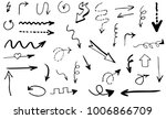 doodle hand drawn vector arrows | Shutterstock .eps vector #1006866709