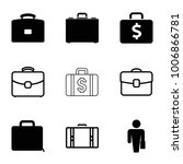 brief icons. set of 9 editable... | Shutterstock .eps vector #1006866781